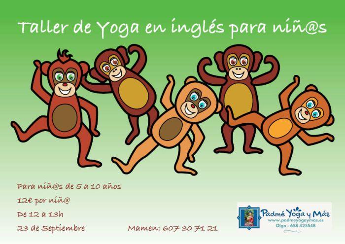 Taller yoga ingles para Niñ@s