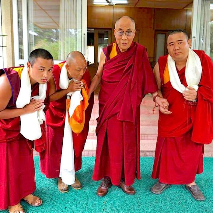 Dalai Lama, Jangchup Palsang, Geshe Lobsang Tendar, Ratak Rimpoche